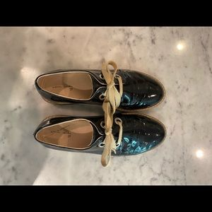 Zara patent leather loafers